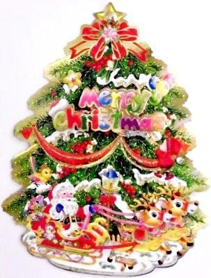 Køb  Flot Vindues billede med et Juletræ - 12,00,-